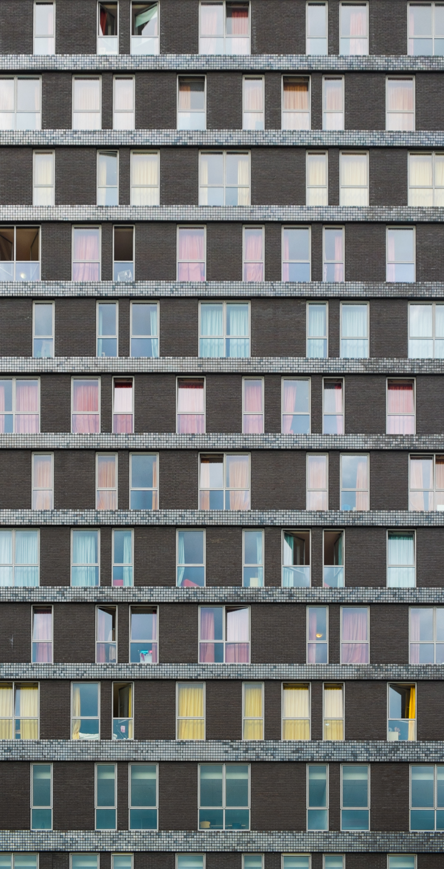 Facade #3:Dorm of Utrecht Highschool