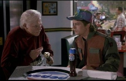Pepsi Perfect bottle in BTTF.