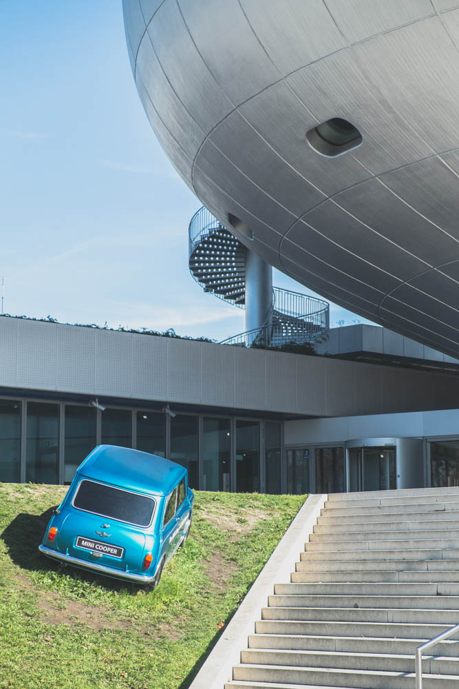 BMW-acquired Mini brand is having exhibition in the BMW Museum.