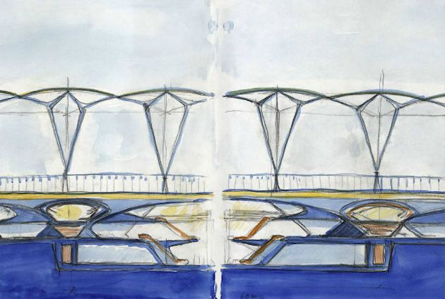 Calatrava is one of the modern architects who is using watercolor as a medium for inspiration. ie: Steven Holl
