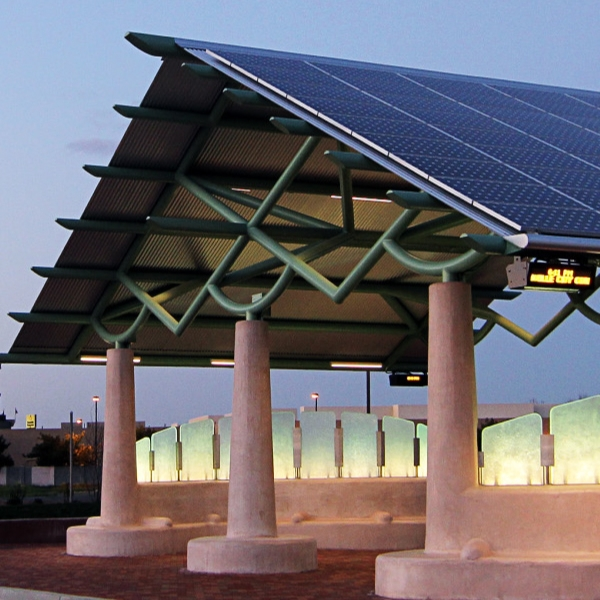 Our ZNE Transportation Center in Vacaville, CA was built in 2010