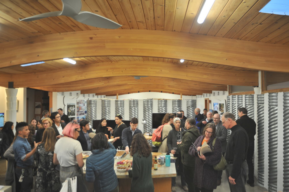 Roughly 60 people attended the reception and toured Indigo's Office to learn more about sustainably deigned buildings.