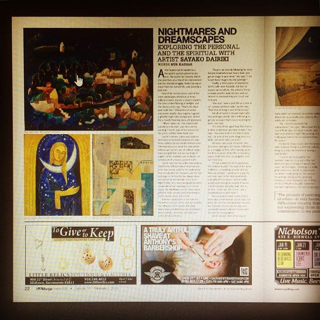 Sayako's exhibit now at the Pence Gallery through end of February...check out the spread in Submerge Magazine!  #submergemag #art #pencegallerydavis #sayakodairiki  #indigoarchitects