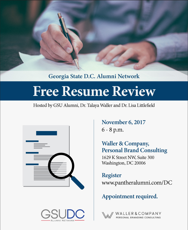 Free Resume Review for Georgia State DC Alumni — Waller & Company ...