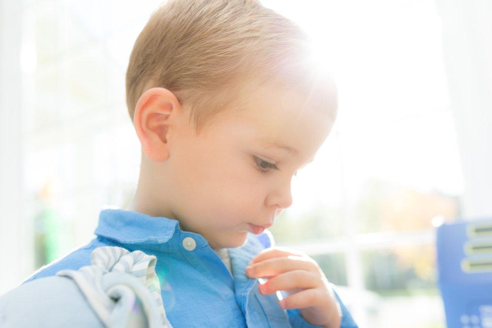 profile of a little boy