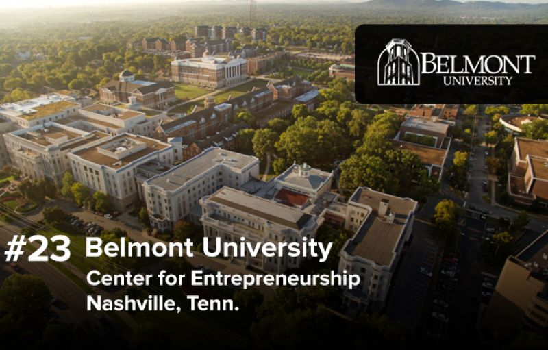 Princeton Review Ranked Again - Belmont University's Center for Entrepreneurship was ranked again in the Top 25 Schools for Entrepreneurship by the Princeton Review!
