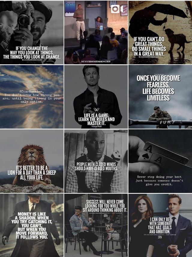 @successmessenger - An entrepreneur named John Ferrara runs this account! He also posts inspirational quotes for the entrepreneur.