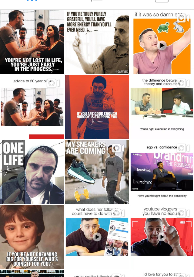 @garyvee - @garyvee is an entrepreneur himself! He gives actual tips in the form of videos, and also gives great advice!