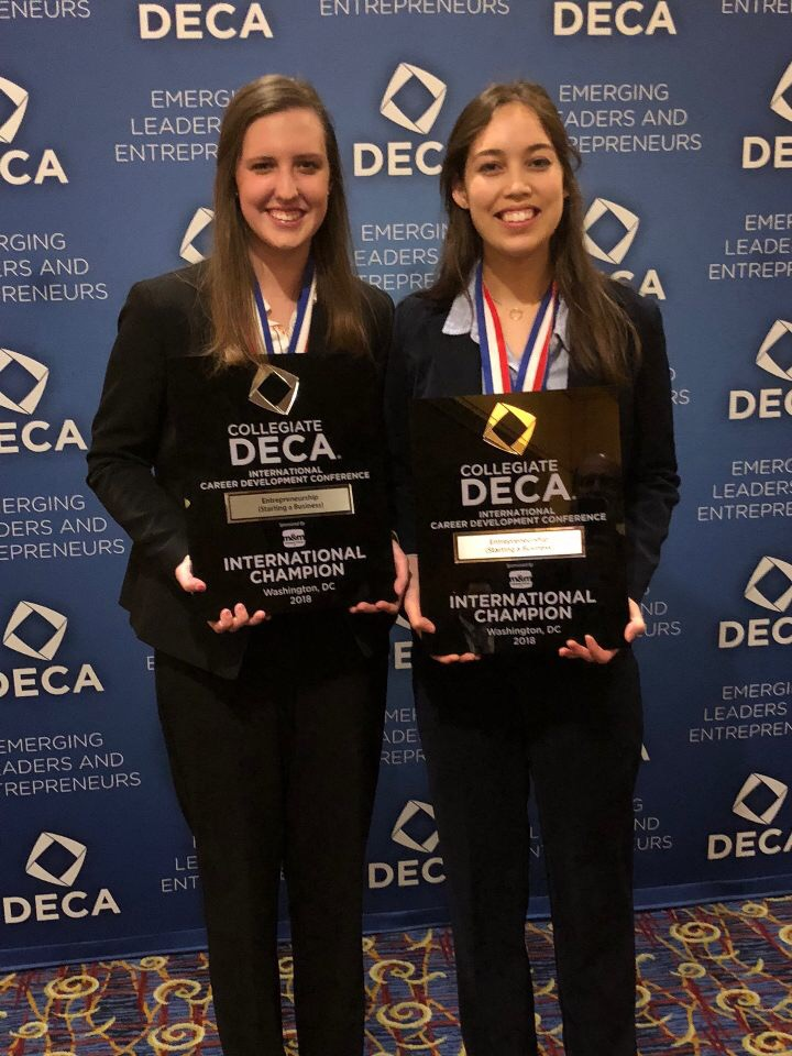 Katie Coens and Renee Ramirez: First Place in Entrepreneurship (Starting a Business)