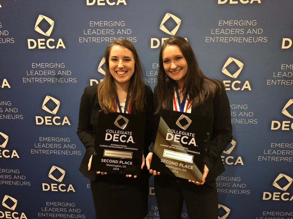 Mollie Montgomery and Becca Wagner: Second Place in Sports and Entertainment Marketing