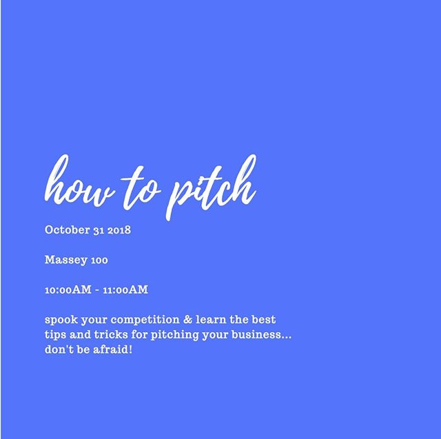 informative and important convo coming up! This one is a How To Pitch convo, and will be great information if you are planning on participating in this year's Pitch Competition!