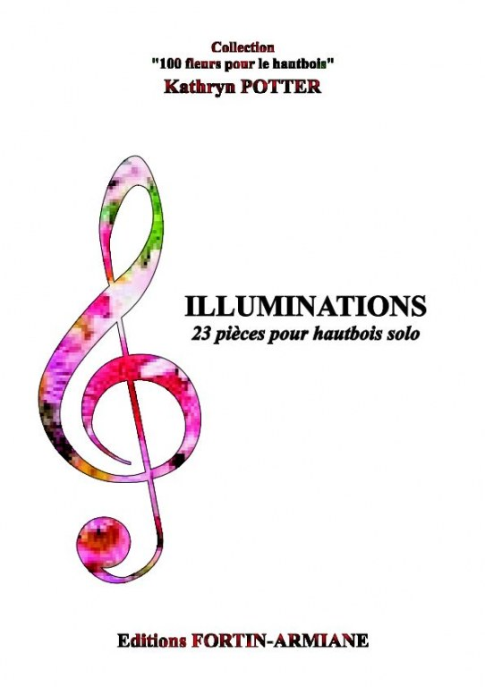 """Illuminations"" 23 easy oboe solos portraying flowers (endorsed by AFH)"