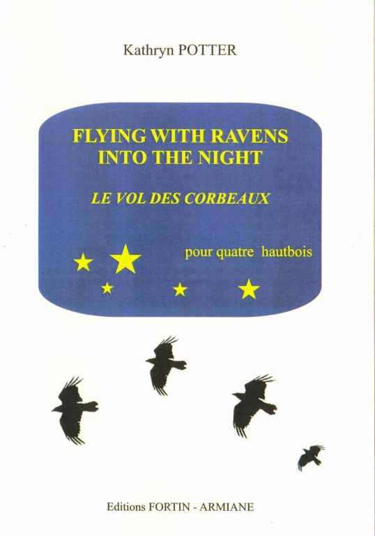 """Flying with Ravens into the Night"" Quartet for 4 oboes (most popular)"