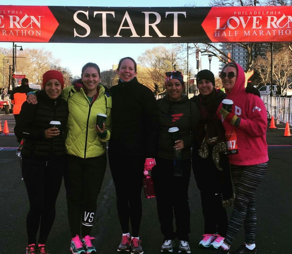Left to Right, Isabel, Pamela, Kate, Sandy, Luciana, Patty   These amazing ladies ran the Philadelphia Half marathon on Sunday. You guys rock!
