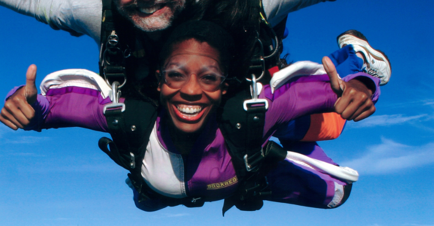 Keli Skydiving for Cosmopolitan magazine
