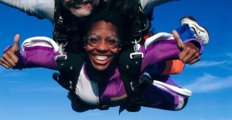 Keli Skydiving for Cosmopolitan magazine