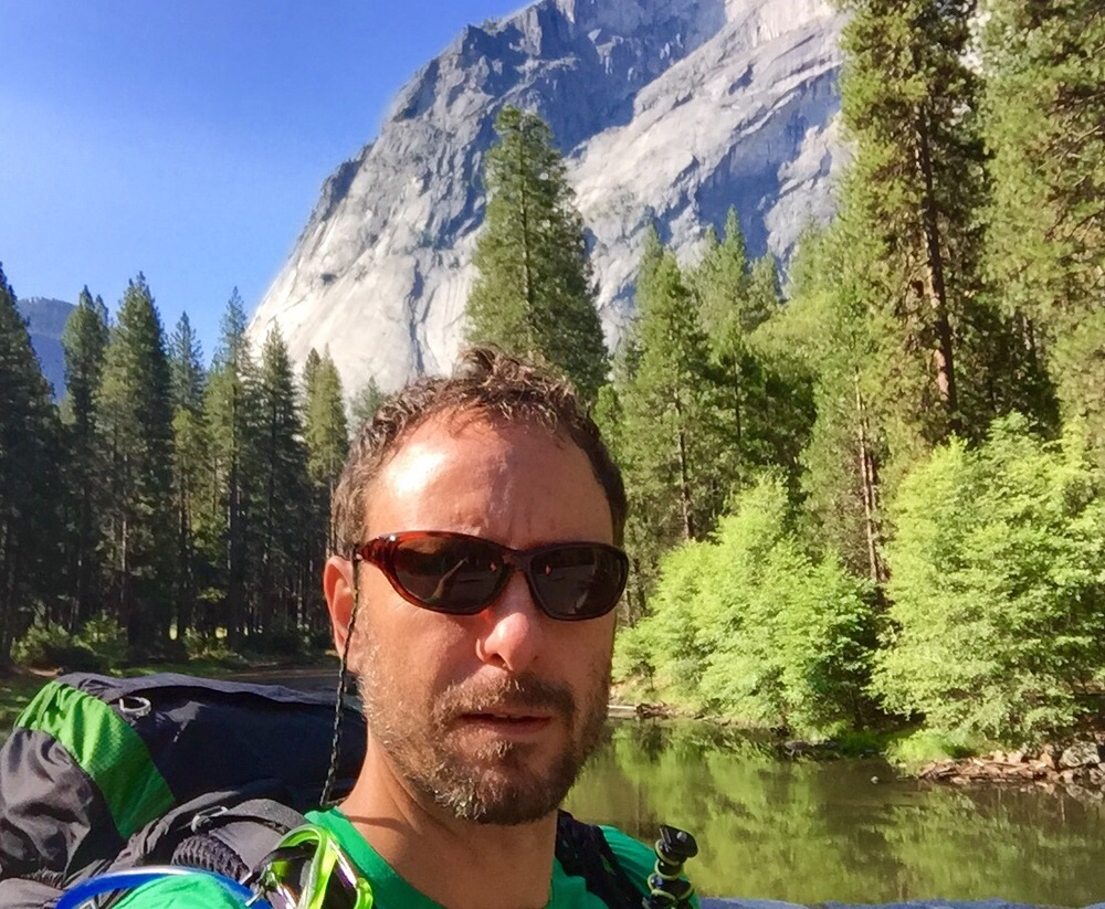 First selfie, merced crossing, yosemite