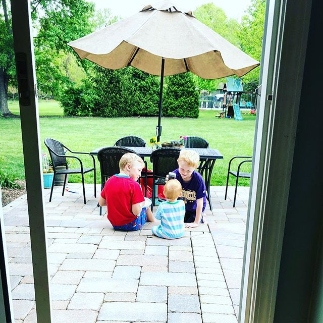 Mother's Day weekend morning view. #brotherlylove gives me #motherlylove #theprincessisstillsnoozin