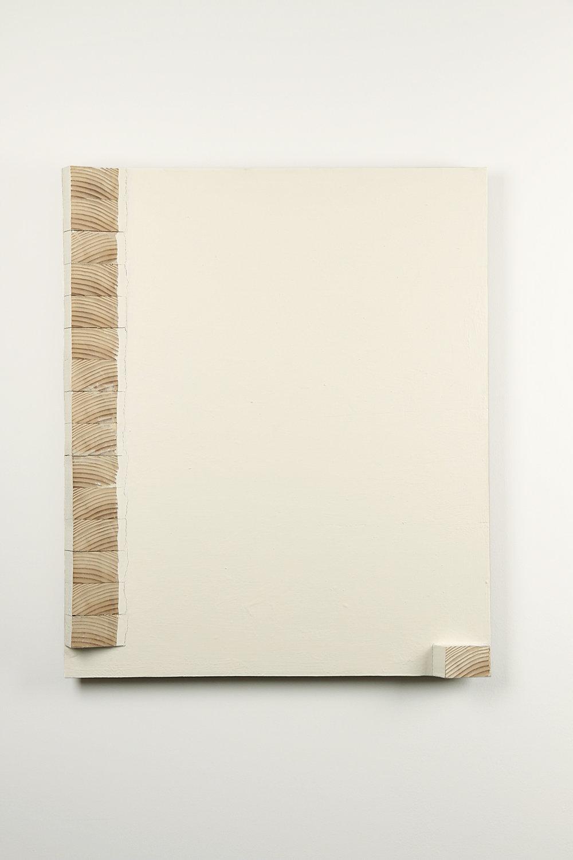 置立   油彩、木 75 x 62.5 cm 1994