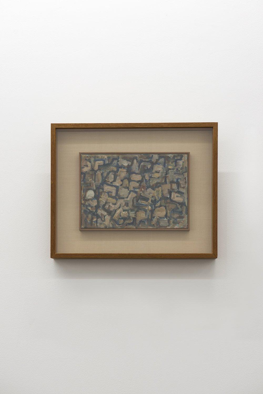 Work B. 0   油彩、キャンバス 28.5 x 35.5 cm 1956