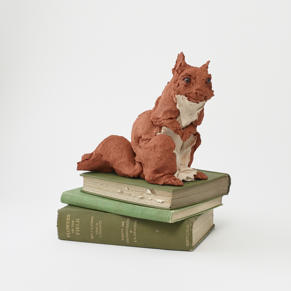 Red Squirrel    Clay 18x20x10 cm 2016