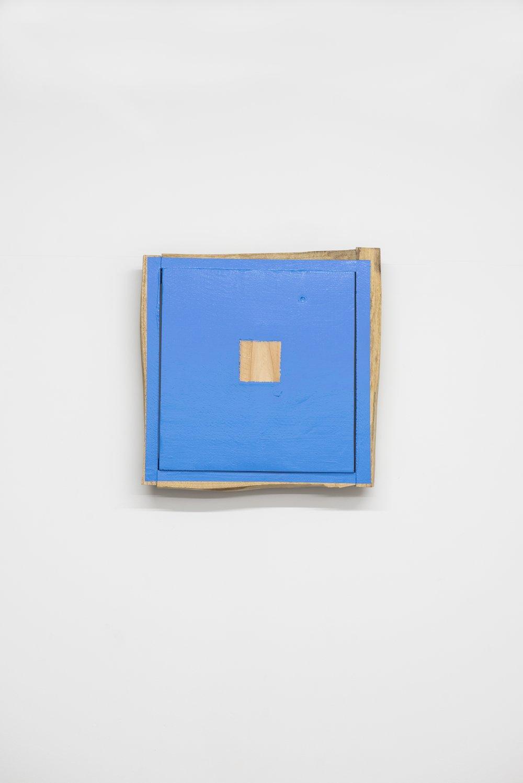 Yottsu no Ki no Aida    Wood, acrylic 32x32x6.5 cm 2000