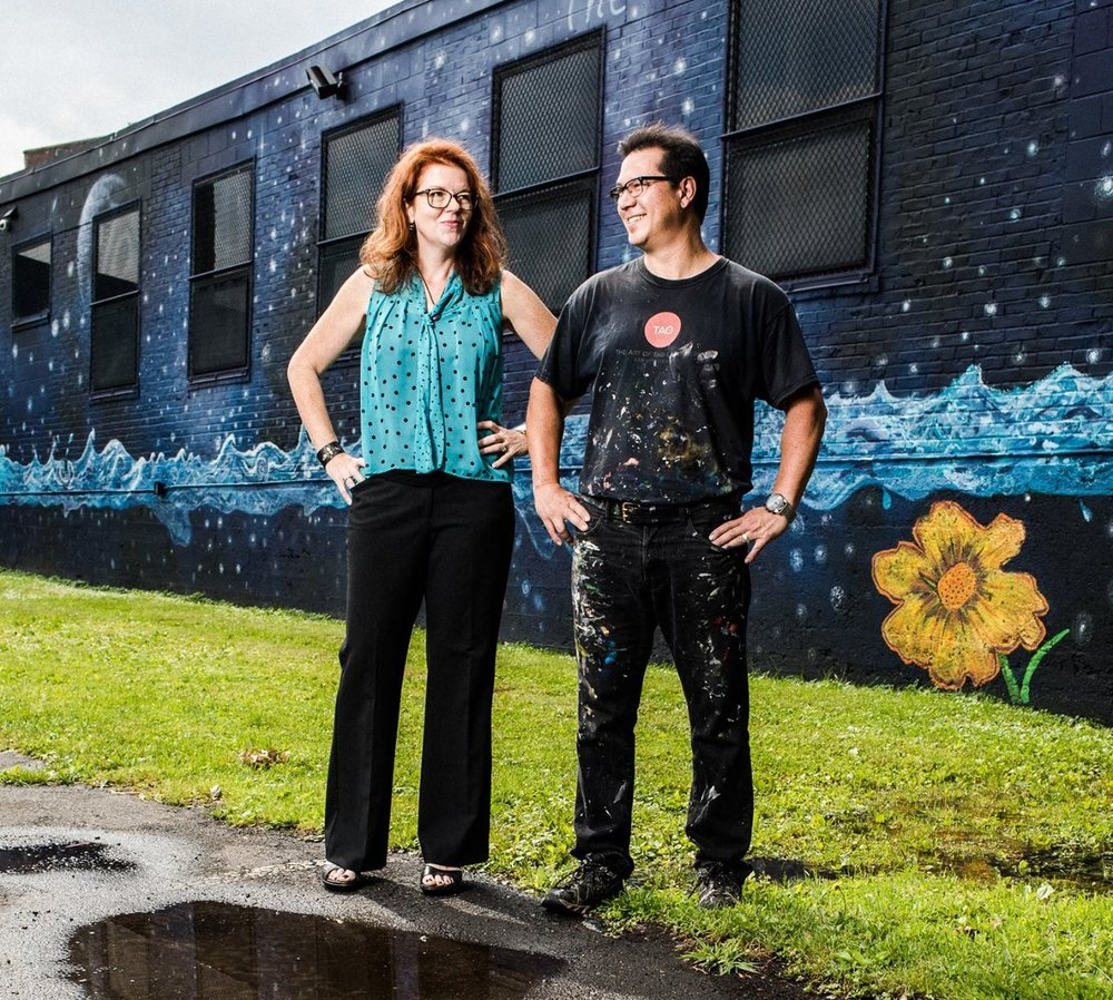 Your Hosts - Tao and Amy LaBossiere are the husband and wife artist partner-owners of Still Waters Pond. Amy handles the business side: client bookings, marketing, finances and social responsibility. Tao handles the creative vision and execution of the property and day-to-day of everything that needs doing. They've been funding all of Still Waters with their art business, Art of Tao LaBossiere. Reach out on the form below and we will get back to  you soon! Thank you.  image: Keith Claytor of TimeFrozen