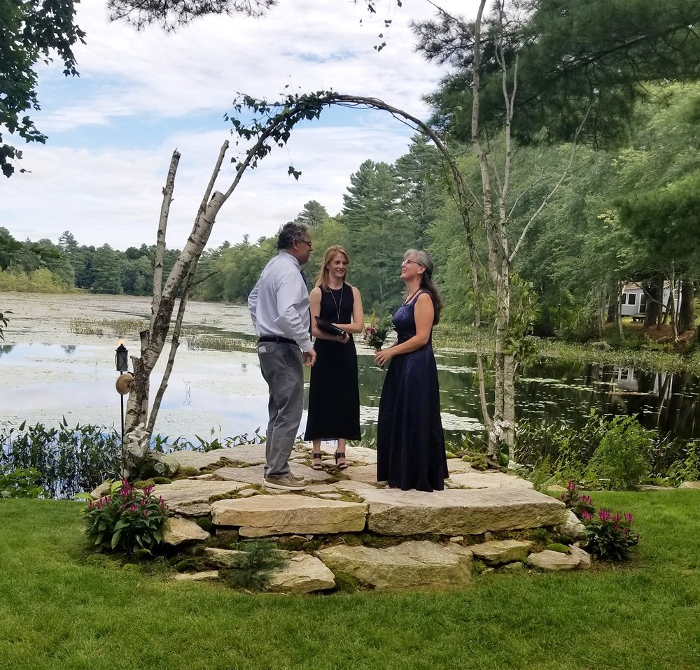 Carol and Ray, our first couple to wed on tAo's ceremony platform. Autumnal Equinox, September 2018