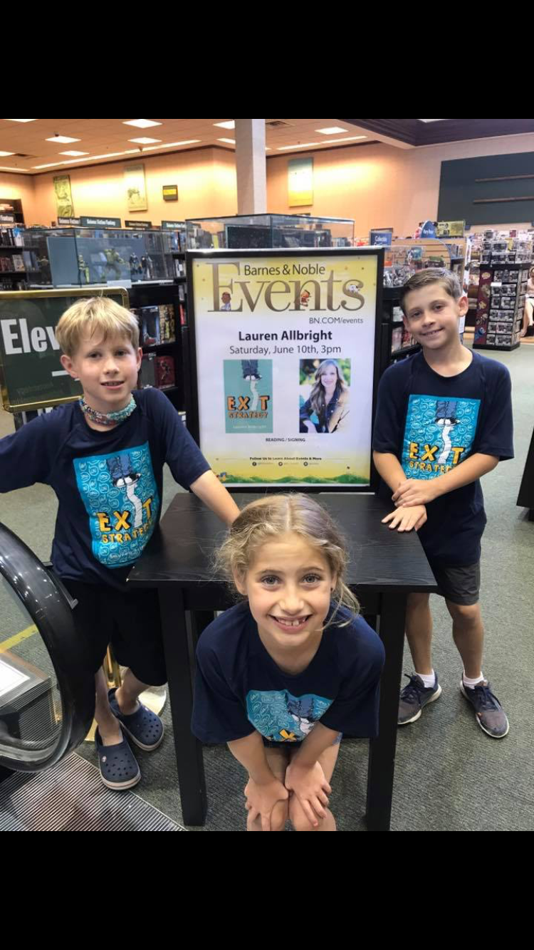 Here is the Kid Crew (aka my loyal sidekicks) at my book launch.