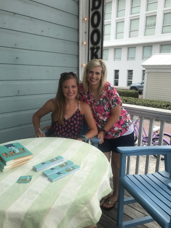 My sweet sister and I posing on the porch.