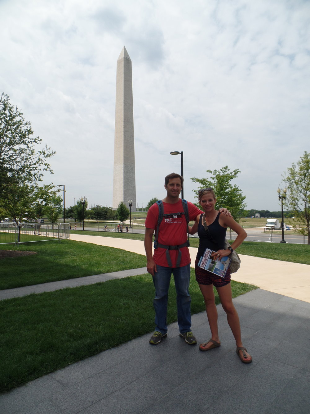 Zach and I in front of the Washington Monument.