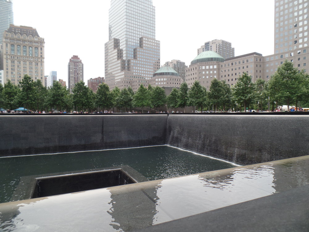The World Trade Center Memorial. We told the kids more about our memories of 911. This was a hard conversation to have with kids. There's so much to explain and its just hard understand. And that isn't because they're kids. As an adult, I can hardly comprehend it.