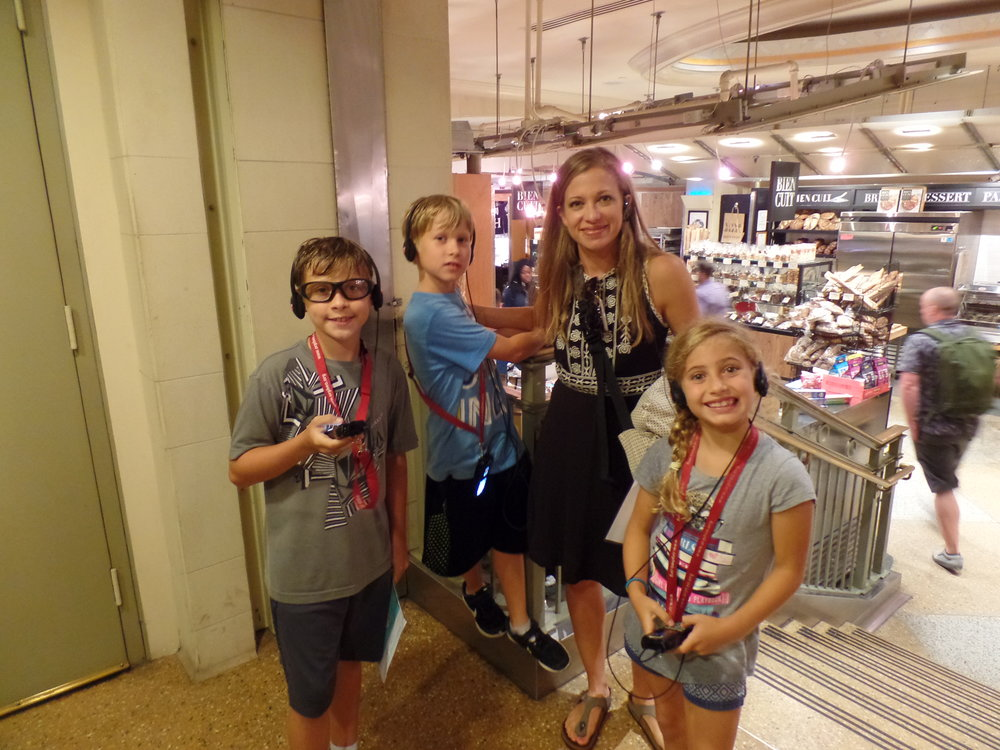 Here we are at Grand Central Station. This was the first time we've even done an audio tour--it won't be the last. We had no idea our kids would like it this much.