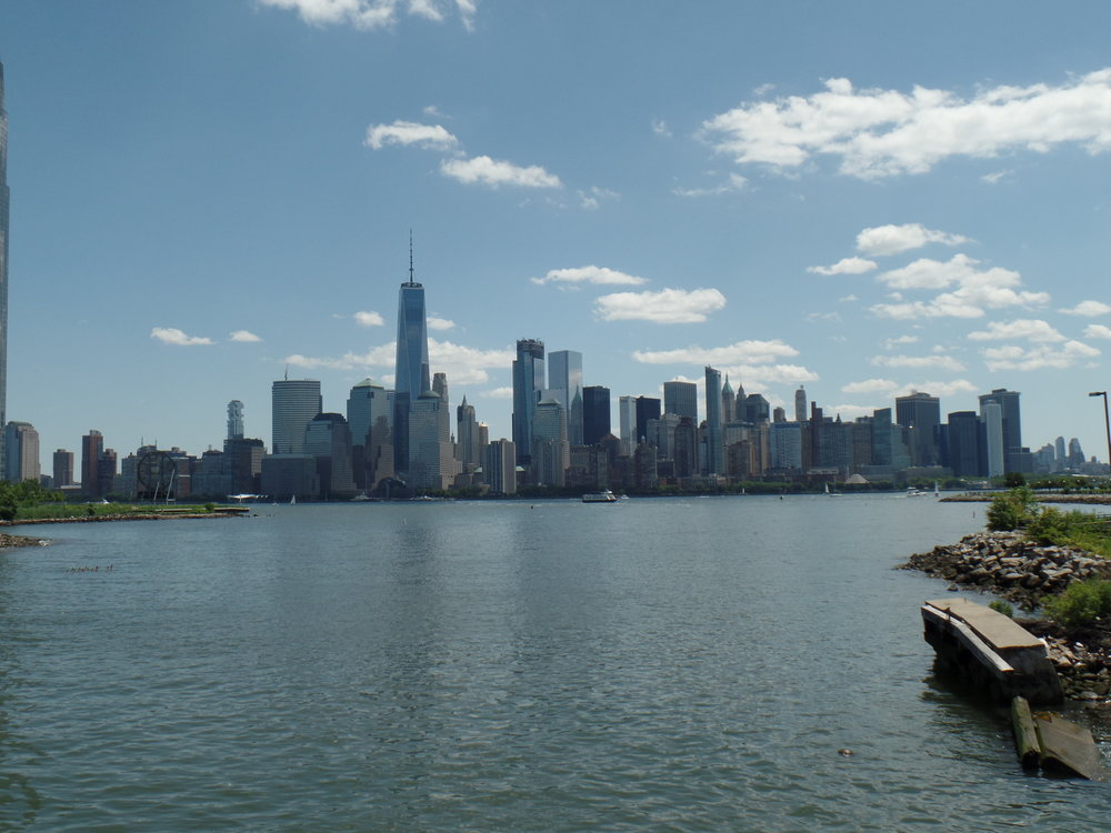 The New York skyline from the ferry.