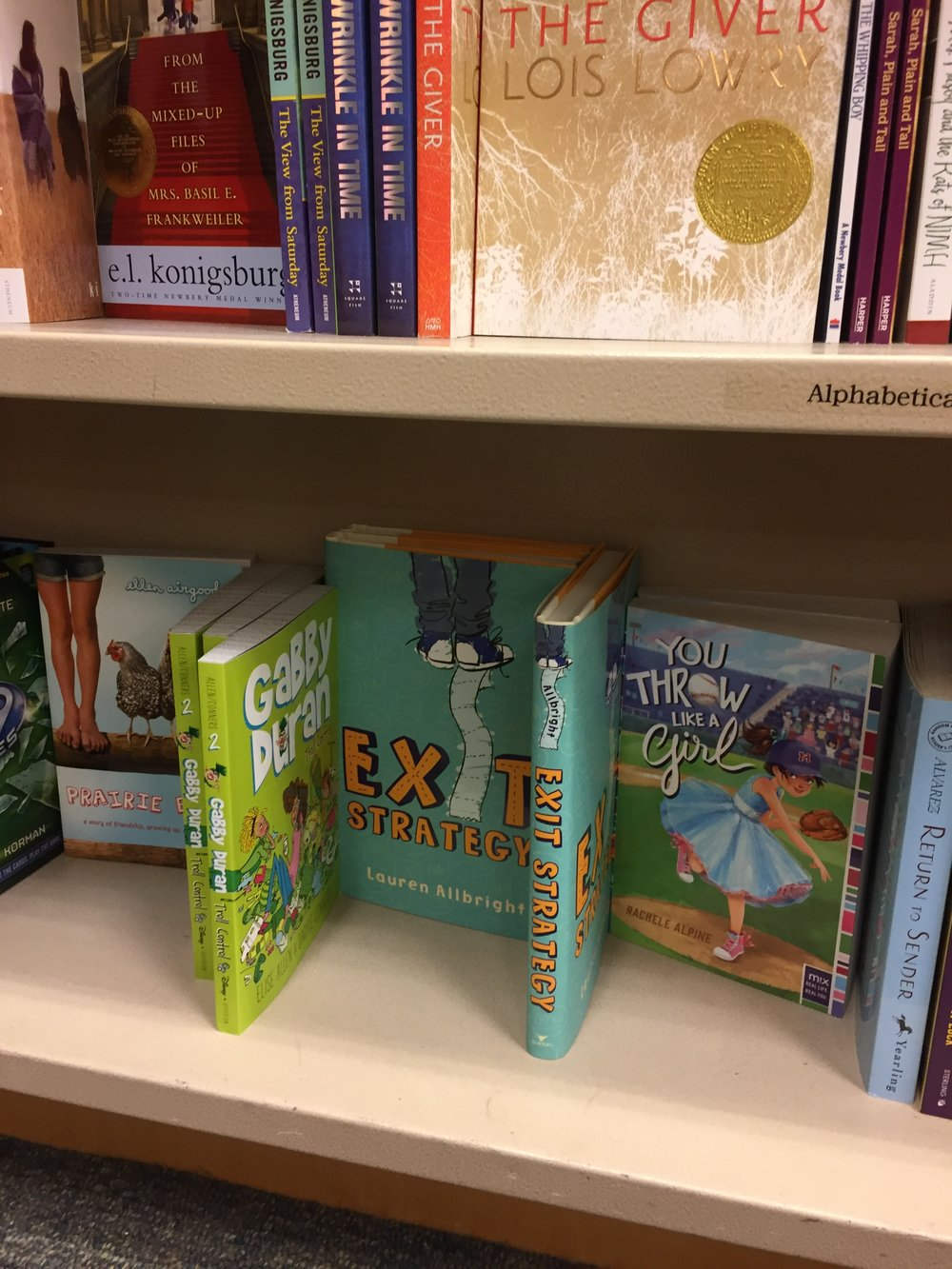 EXIT STRATEGY at the Barnes and Noble on 5th Avenue.