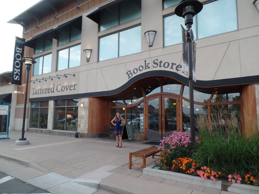 The outside of Tattered Cover Bookstore in Littleton, Colorado.