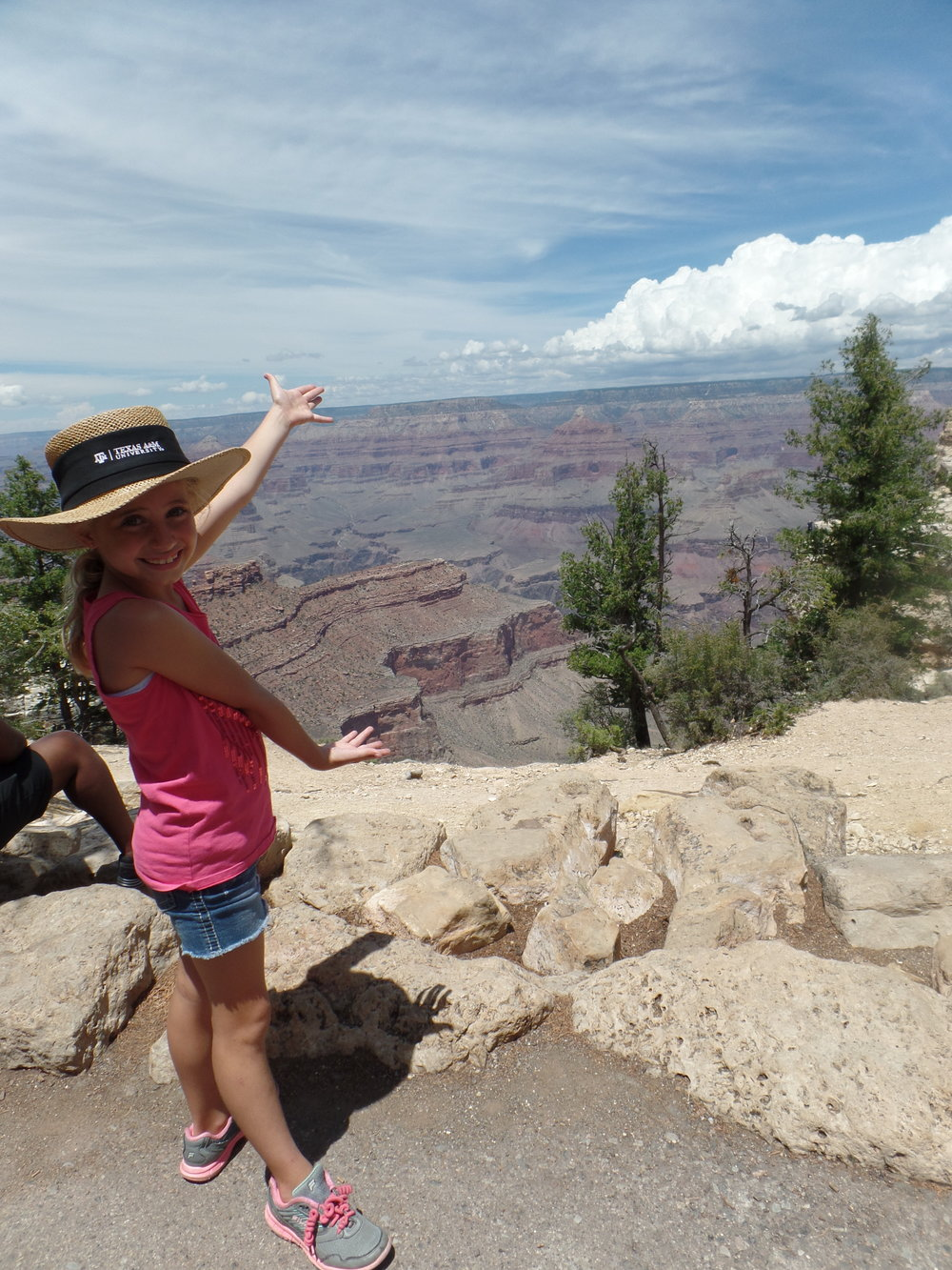 Ta da! Rowyn is showing off the Grand Canyon.