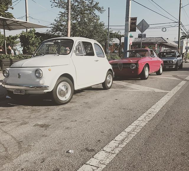 Morning coffee run with the boys! #panthercoffee #caffeineandgasoline #fuelfiles #thebarnmiami #statusmotors