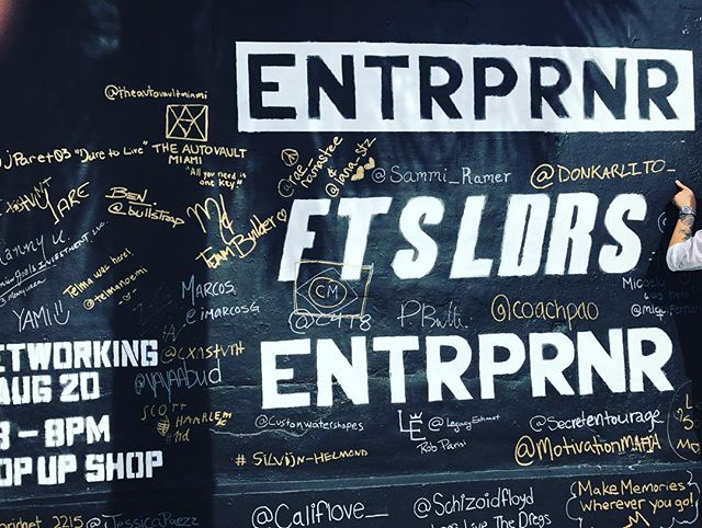 Can you find us on the wall? #entrprnr #secretentourage #ftsldrs #wynwood