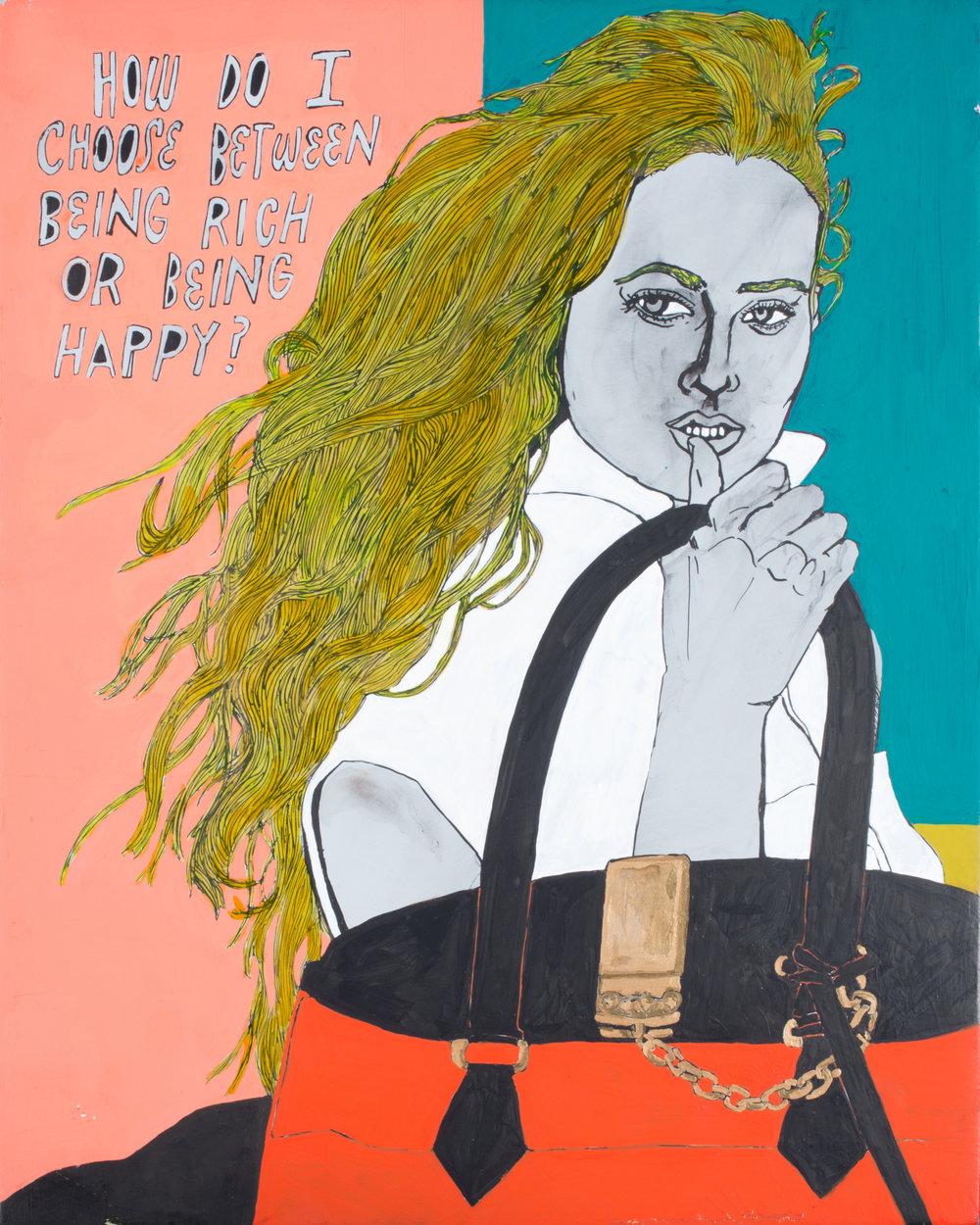 "Hall-Barnett Gallery_ DaisyWinfrey _""These Girls II""_12""x15""_Mixed Media_2017_$900.jpg"