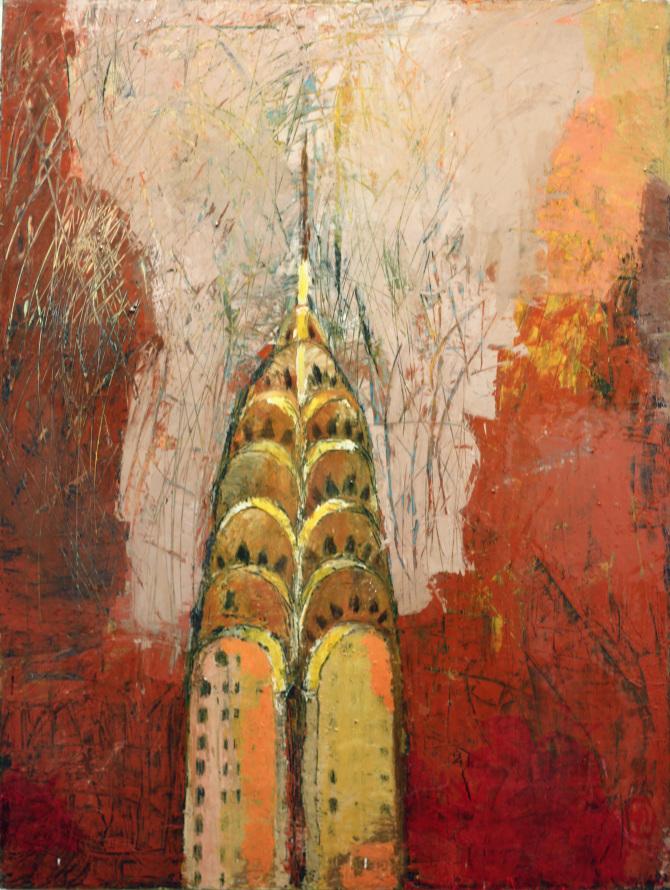 """Chrysler Building"", 40""x30""     Original price $2700"