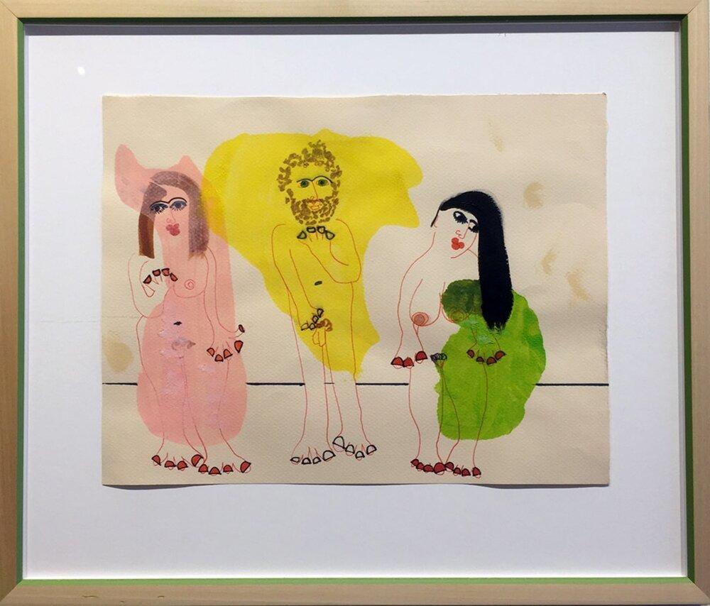 "Hall-Barnett Gallery_James Heraclitus Wall_""1 Towelling Off""_9%22x12""_mixed media_2017_$600 copy.jpg"