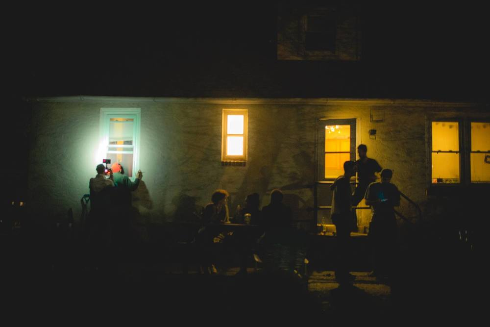house party at night in Newark, Delaware