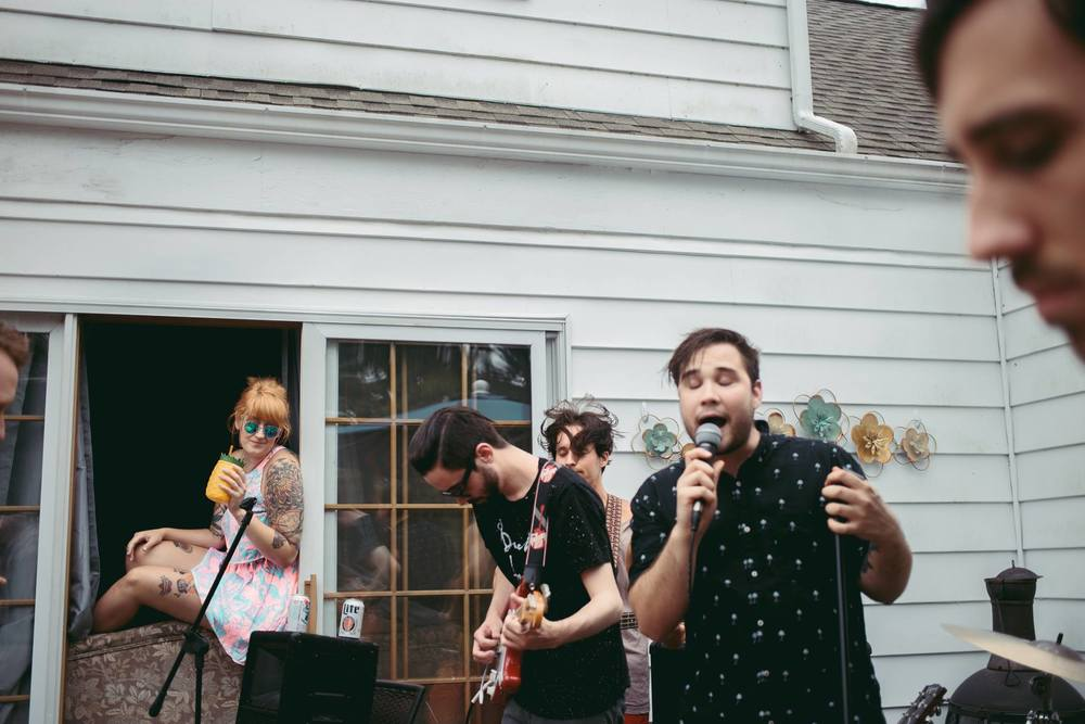 fiance band playing house show