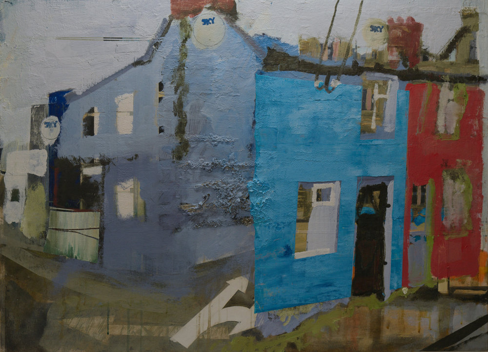 Larger BlueHouse Painting