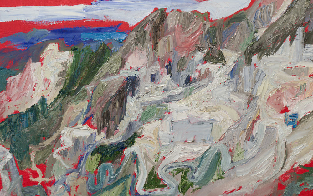 Mountain Landscape,  oil on canva 2019