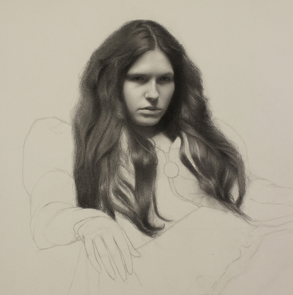 """Hair Study."" Charcoal on paper. Step by step tutorial here:  http://www.thedrawingsource.com/how-to-draw-hair.html"