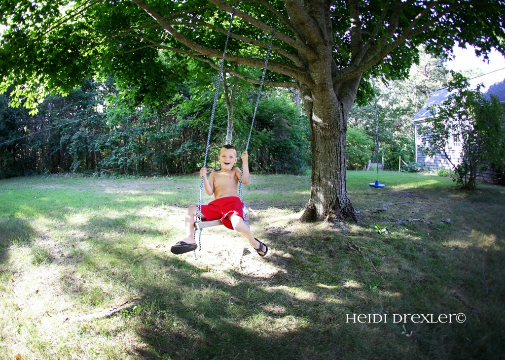 The swing at Great Nana's house built by Aunt Chrissy.