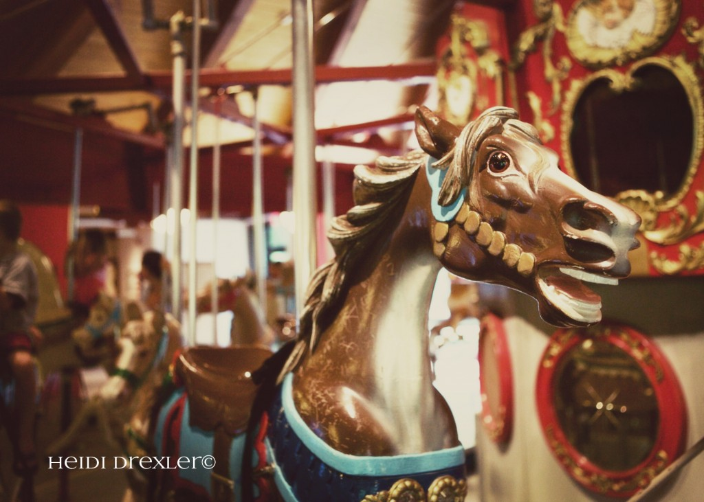 100 year old, hand-carved, antique carousel.