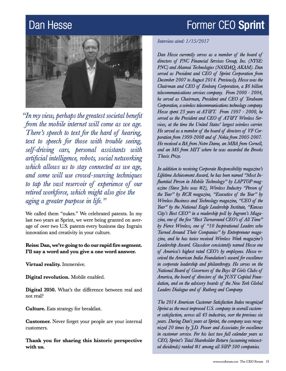 Dan Hesse - CEO Magazine April 2017 Page 6